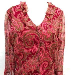 Vintage ICE Silk Paisley Blouse